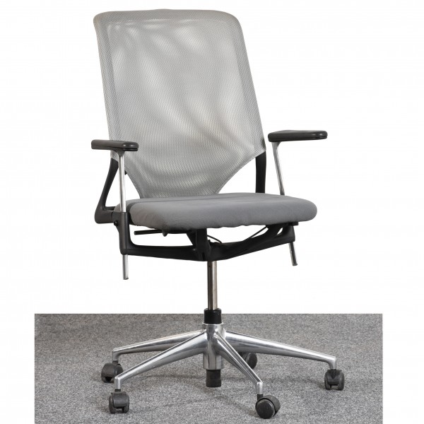 Vitra Drehstuhl Textilbezug grau Armlehne gebraucht Büro 36510