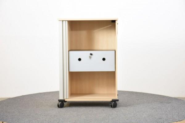 Rollcontainer, hoch, weiß, gebraucht