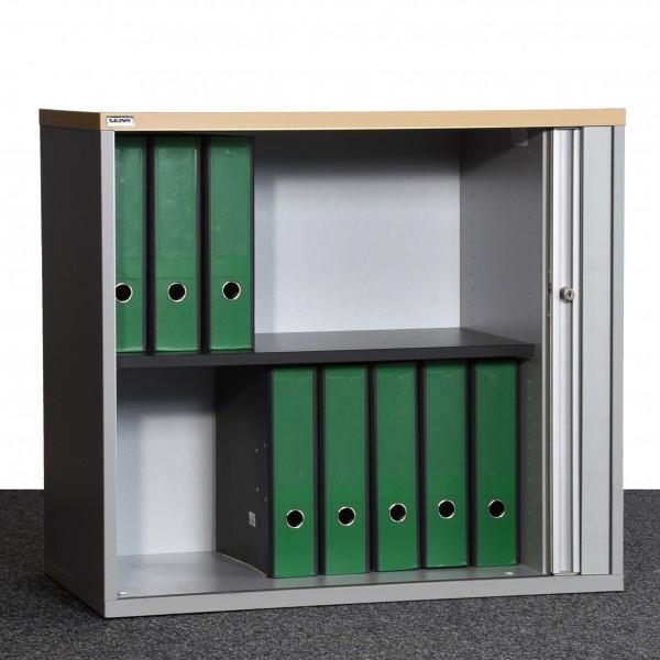 CEKA Aktenschrank Sideboard 2OH silber Ahorn Rollo gebraucht Büro 36143
