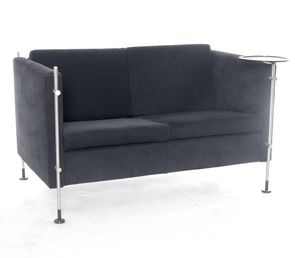 """2er Designer-Sofa """"ARFLEX"""" schwarz, gebrauchte Büromöbel"""