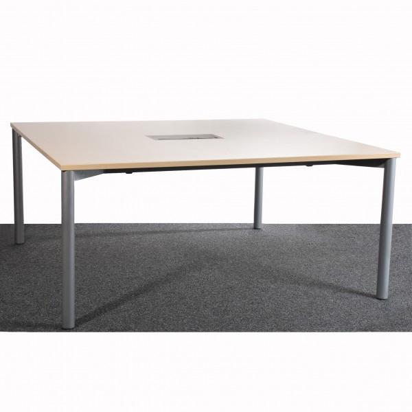 Schreibtisch, Besprechungstisch, mit Multimedia Fach, Ahorn, gebraucht