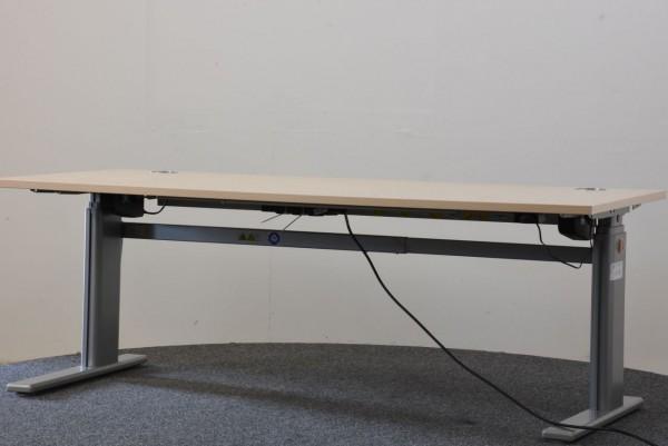 Schreibtisch, Sitz- & Stehschreibtisch, elektrisch höhenverstellbar 64-128 cm, 180x80 cm, gebraucht