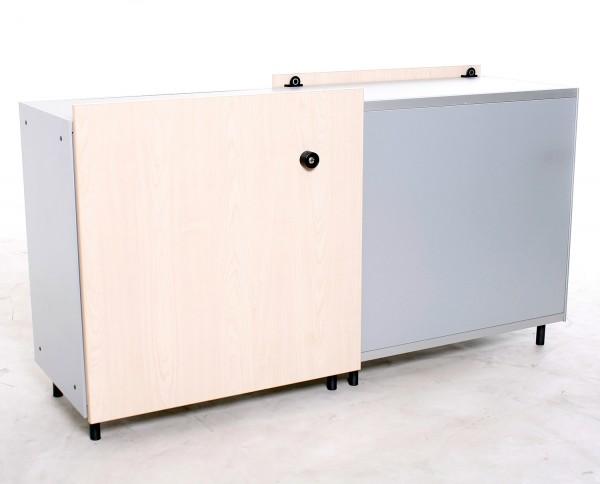 """Sideboard 2 OH, """"VS"""", 2-seitig nutzbar, 161,5 cm breit, gebrauchte Büromöbel"""