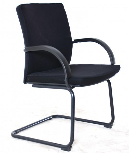 Freischwinger, Textilbezug schwarz, 35589, gebrauchte Büromöbel