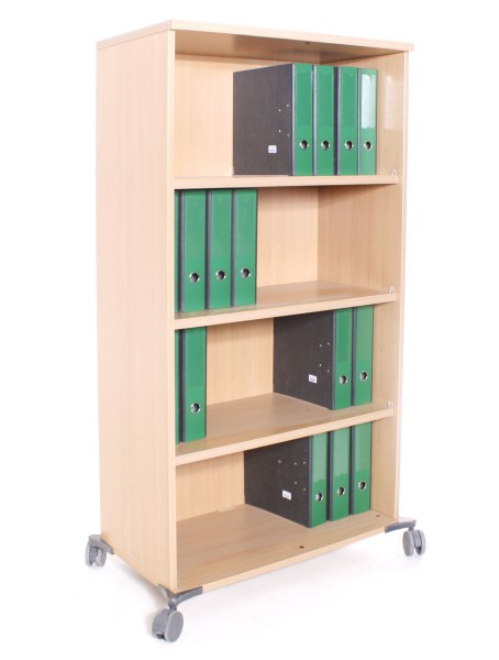 Aktenregal 4OH, B 80 x H 154 x T 44 cm, Buche, gebrauchte Büromöbel