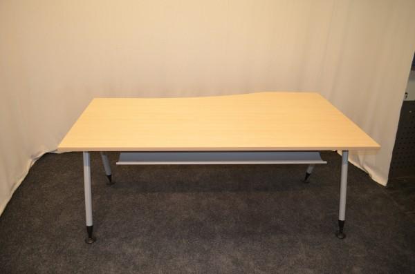Schreibtisch, Buche, 180x100/80cm, gebrauchte Büromöbel
