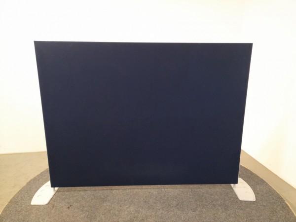 Stellwand, Raumtrenner, Schallschutzwand, blau, B/H/T 180x138,5x38 cm, gebraucht
