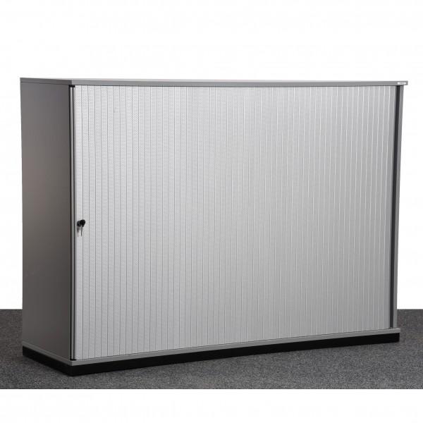 Vario 3OH Sideboard grau silber Querrolade Böden Metall gebraucht Büro 36186