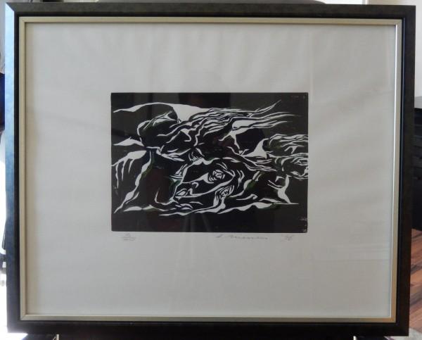 H. Niessen - Holzschnitt, Grafik, 3/50, 52,5x68cm