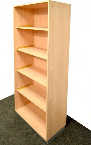 Aktenregal 5OH, 194x80cm, Buche, offen, gebrauchte Büromöbel