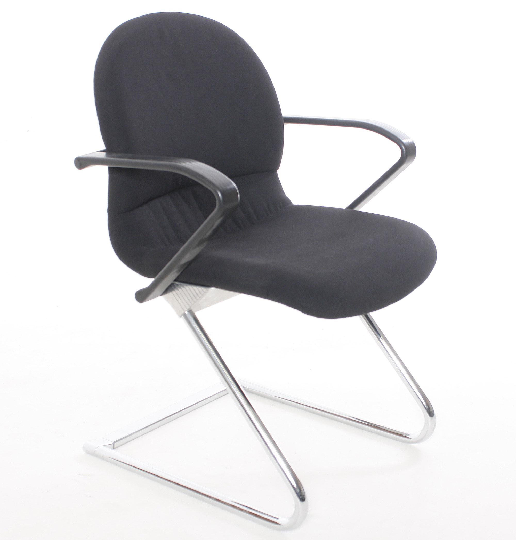 freischwinger sigma textil schwarz gebrauchte b rom bel besprechungsst hle st hle. Black Bedroom Furniture Sets. Home Design Ideas