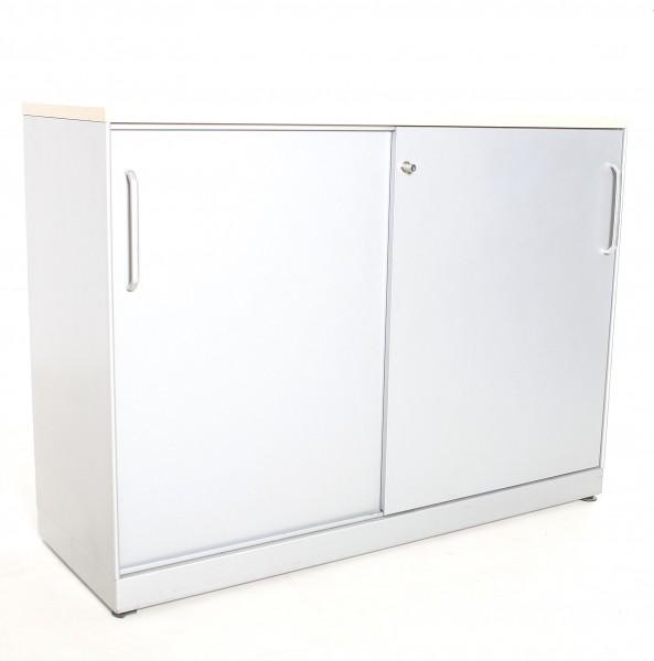 "Sideboard 2OH ""MAUSER"" , B 120 x H 89 x T 43 cm, gebrauchte Büromöbel"