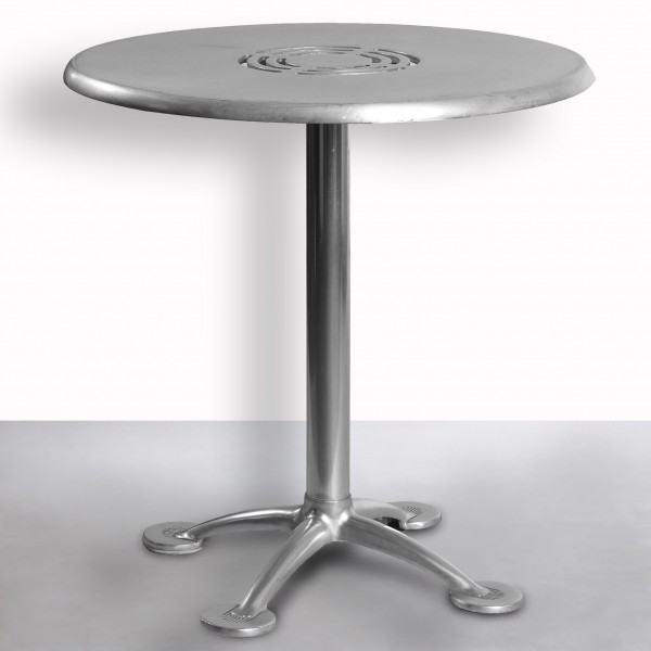 Lovells Tisch, rund Ø70, Alu-Spritzguß, silber, wetterfest, gebraucht