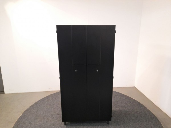 Aktenschrank, schwarz, 80 cm Breite, gebraucht