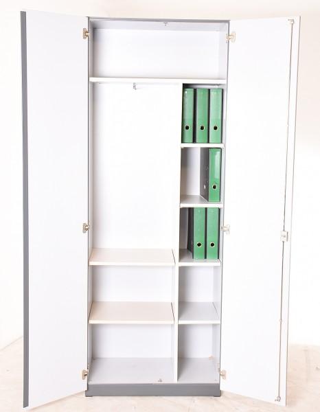 Garderoben-/Aktenschrank, 80 cm breit, 35579, gebrauchte Büromöbel