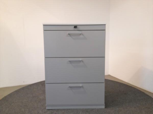 Steelcase Hängeregisterschrank, weiß/grau, 3 Schubladen, gebraucht