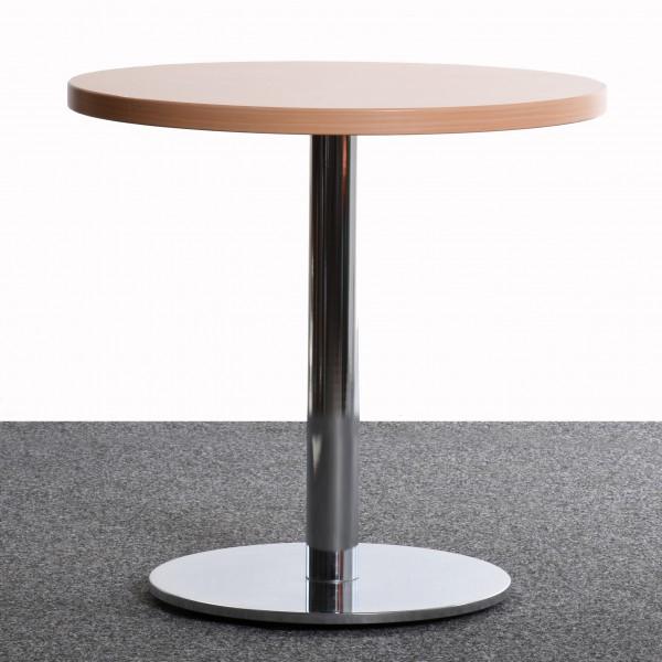 Runder Tisch von Walter Knoll, Ø40, Stempel Fuß, Ahorn, gebraucht