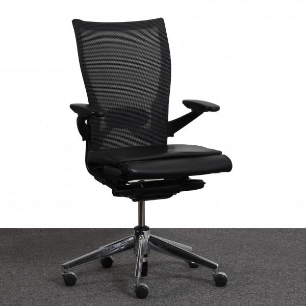Comforto Drehstuhl Stoffbezug schwarz Sternfuß gebraucht Büro 36571
