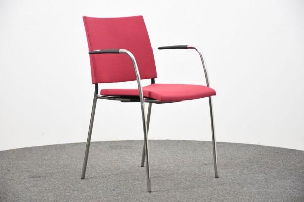 Lammhults Besucherstuhl, pink, 4 Fuß, gebraucht