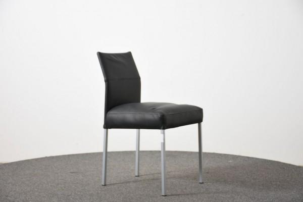 KFF Besucherstuhl,Kunstleder schwarz, 4 Fuß,  gebraucht