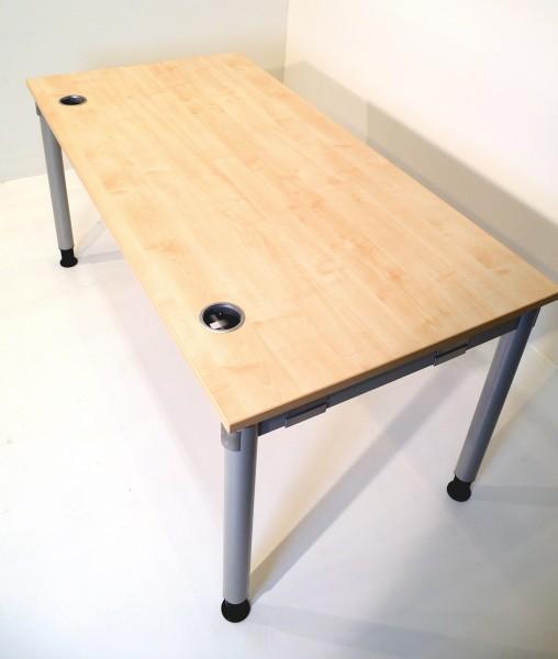 Schreibtisch 160x80cm, Buche Tischplatte, gebrauchte Büromöbel