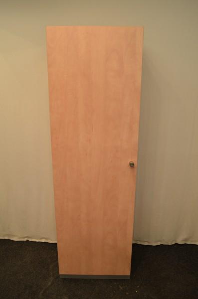 Garderobenschrank 194x60cm, Schrank, Buche, verschließbar, gebrauchte Büromöbel