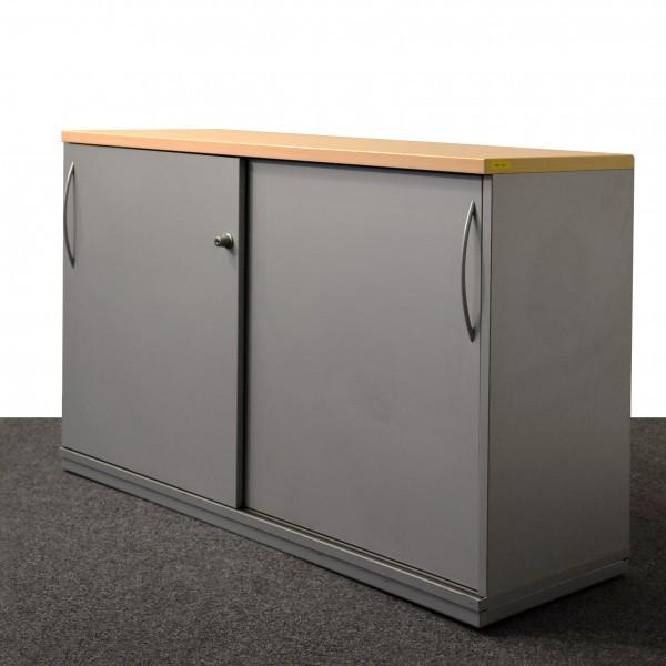 K&N Sideboard 2OH, grau, Schiebetürschrank, gebraucht