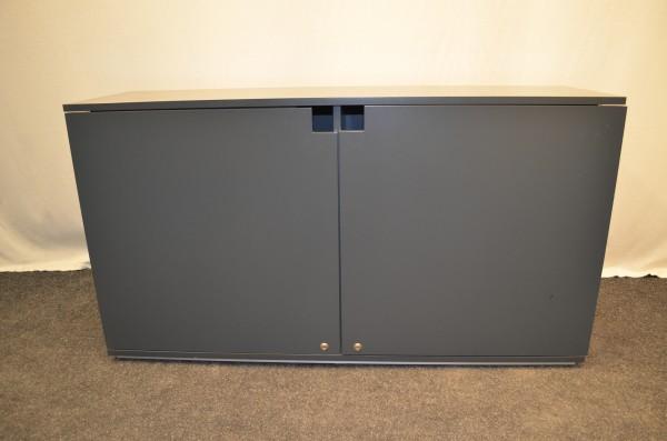 Sideboard 2OH, grau, 76x118, 2x Flügeltür, verschließbar, gebrauchte Büromöbel