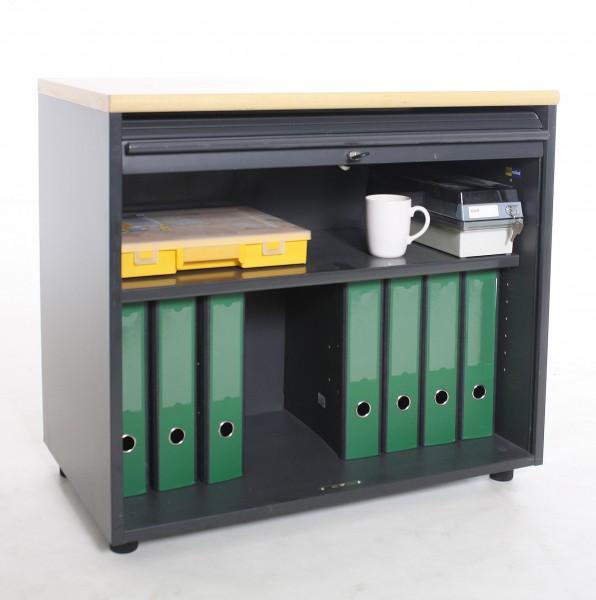 "Sideboard 1OH ""PLANMÖBEL"", B 80 x H 72 x T 47 cm, gebrauchte Büromöbel"