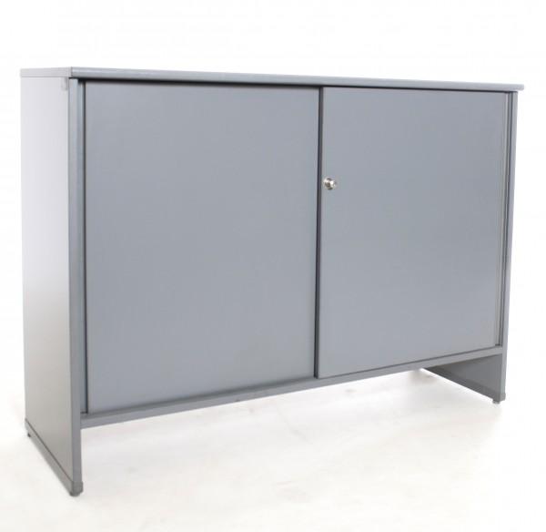 "Sideboard 2OH ""PLANMÖBEL"", B 120 x H 86 x T 42 cm, gebrauchte Büromöbel"