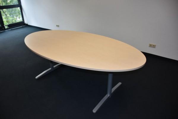 K&N Besprechungstisch, 210x110 cm, Beine silbergrau, gebraucht