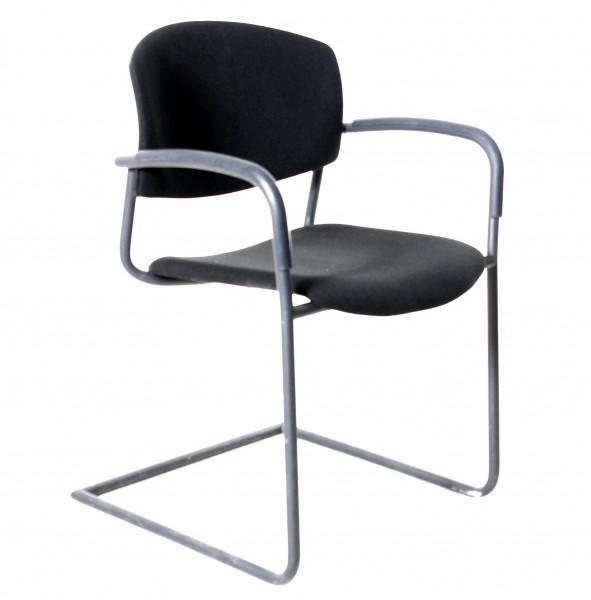 """Freischwinger """"DRABERT"""" Textil schwarz, gebrauchte Büromöbel"""