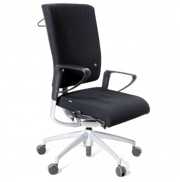 "Bürodrehstuhl ""INTERSTUHL"" schwarz, 5-Sternfuß, gebrauchte Büromöbel"