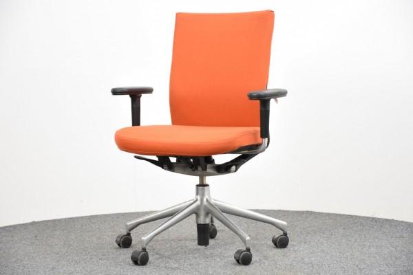 Vitra Drehstuhl, Stoffbezug orange, gebraucht