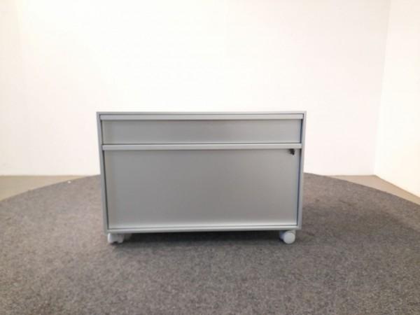MDF Sideboard 2OH, silber/alu, 80x55 cm, gebraucht