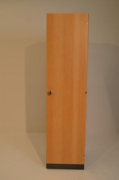 Aktenschrank 4OH, 160x40cm, Markenfabrikat Dula, 1x Flügeltür, verschließbar, gebrauchte Büromöbel