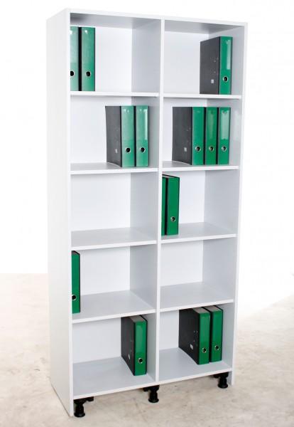 Aktenregal 5OH, B 100 x H 207 x T 42 cm, gebrauchte Büromöbel