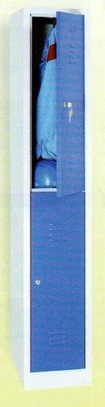 Garderobenschrank, 180x60x50cm, 2 Türen, 25, Grau/Blau WRC/2 1860 103488