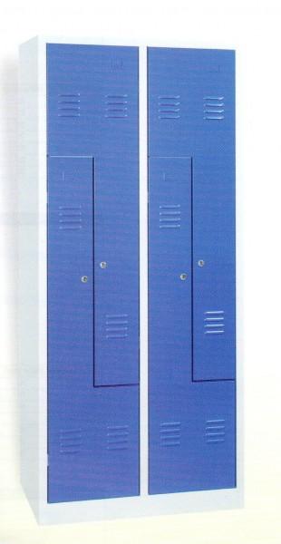 Garderobenschrank, 180x80x50cm, 4 Türen, 40, Grau/Himmelblau WRZ/4.1880 109394