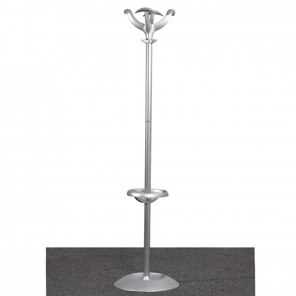 Garderoben Ständer Standgarderobe Metall  silber gebraucht Büro 36588