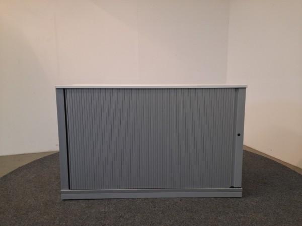 Sideboard 2 OH, weiß/grau 120 cm breit, gebraucht