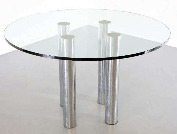 Glastisch 35693, 120 cm, gebrauchte Büromöbel