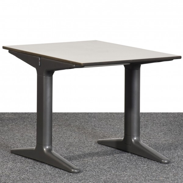 Tisch Ahrend beistelltisch Platte meliert, Beine anthrazit gebraucht Büro 36367
