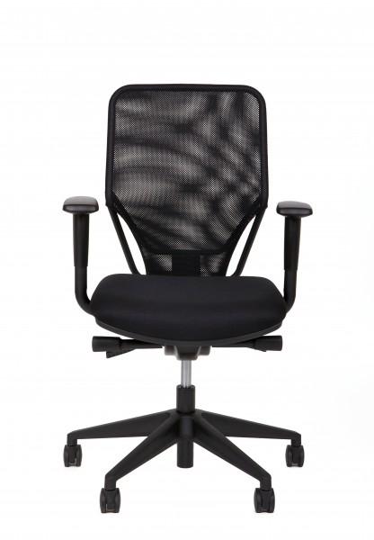 Bürostuhl Modell Naos, Schwarz, Höhenverstellung - NEUWARE