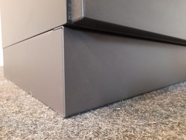Febrü Garderoben-/Aktenschrank, anthrazit, 60 cm breit, gebraucht