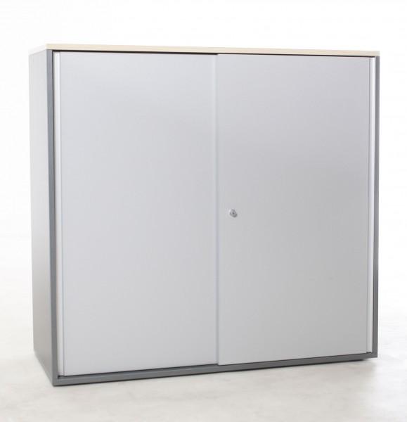 "Sideboard 3OH ""STEELCASE"" , B 120 x H 114 x T 43,5 cm, gebrauchte Büromöbel"