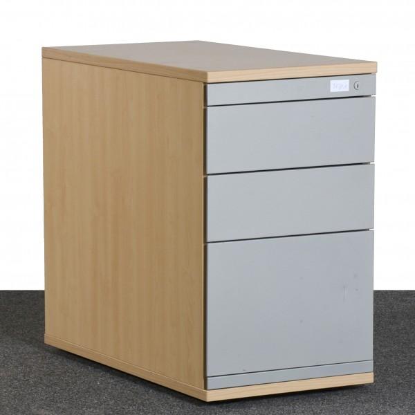 Steelcase Standcontainer, Ahorn/silber, Schubladen, Hängeregister, gebraucht