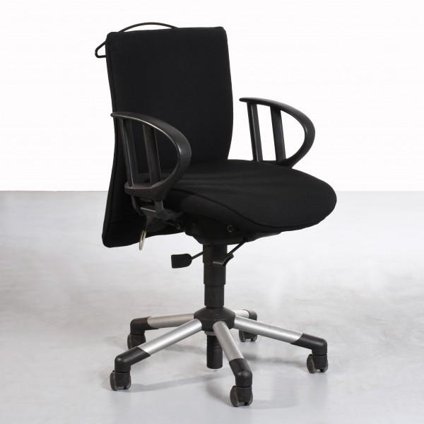 Interstuhl Büro 36208 Drehstuhl schwarz Lordosenstütze gebraucht höhenverstellbar