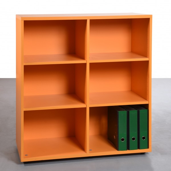 3 OH Regal orange gebraucht Höhe 115 x Breite 100 x Tiefe 44 cm