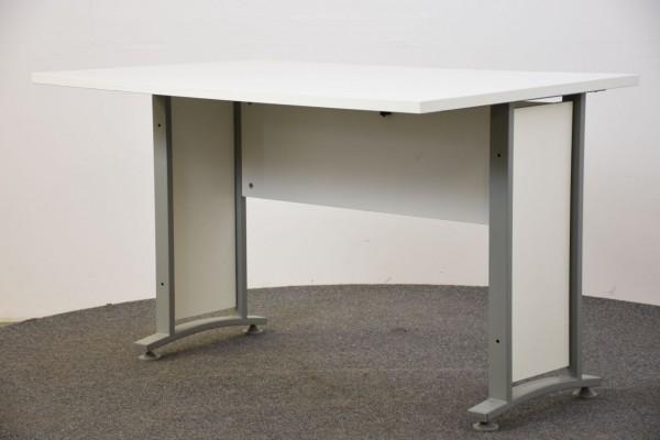 Schreibtisch, 80x120, weiß, gebraucht